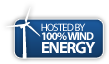 100% wind Powered logo logo